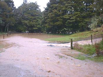 flood-waters all over the driveway