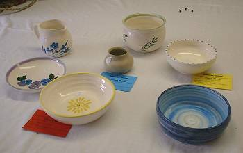the pottery section at the Broadwood show