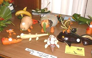 "the children's ""vegetable animals"" class in the Indoor Section of the Kaitaia A&P show"