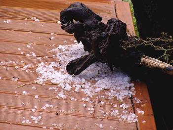 hail on the deck