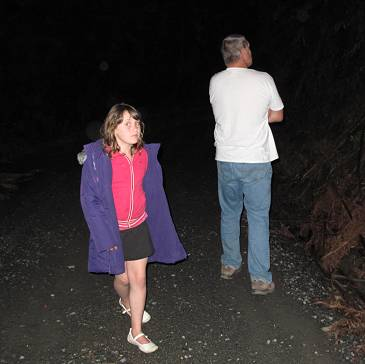 hunting glow-worms