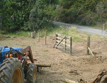 the new road-side fence takes shape
