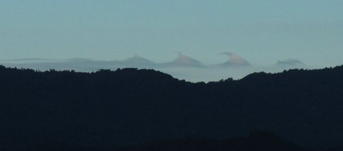 strange clouds over the Maungataniwha Range