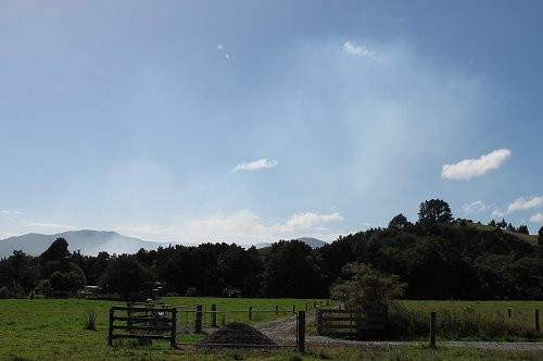 lime dust in the sky