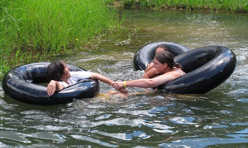 a race in the pond