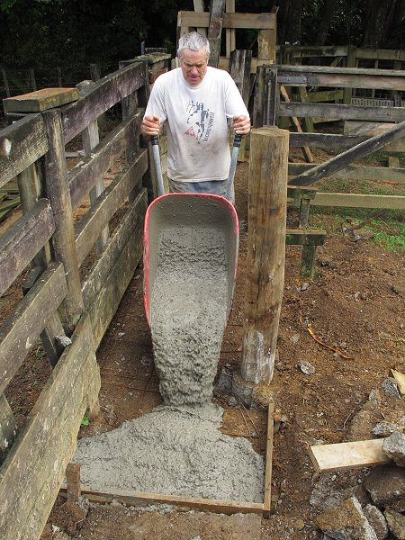 making concrete