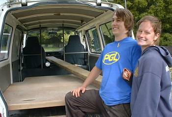 David and Kelly and their van