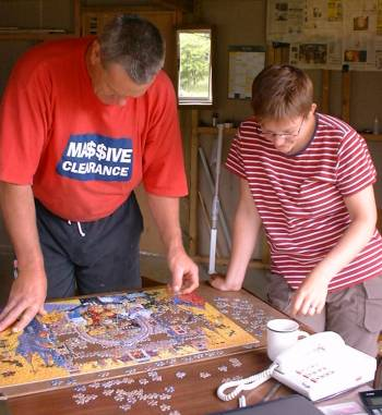 Stephan and Gisela doing a jigsaw
