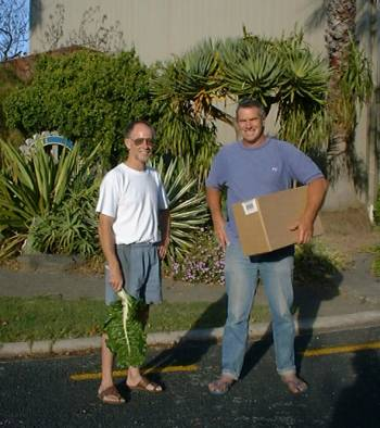 Grant and Stephan outside the Kaitaia Community Center