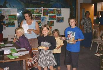 children and baking entries at the Kaitaia Community Center